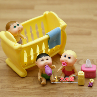 cabbage patch kids minis迷你椰菜娃娃洗澡玩具过家家玩具摆件