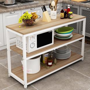 多功能橱柜厨房置物架落地多层收纳架省空间烤箱微波炉调味料架子
