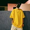 夏季韩国OVERSIZE宽松落肩短袖T恤男女bf风圆领嘻哈纯色半袖TEE潮