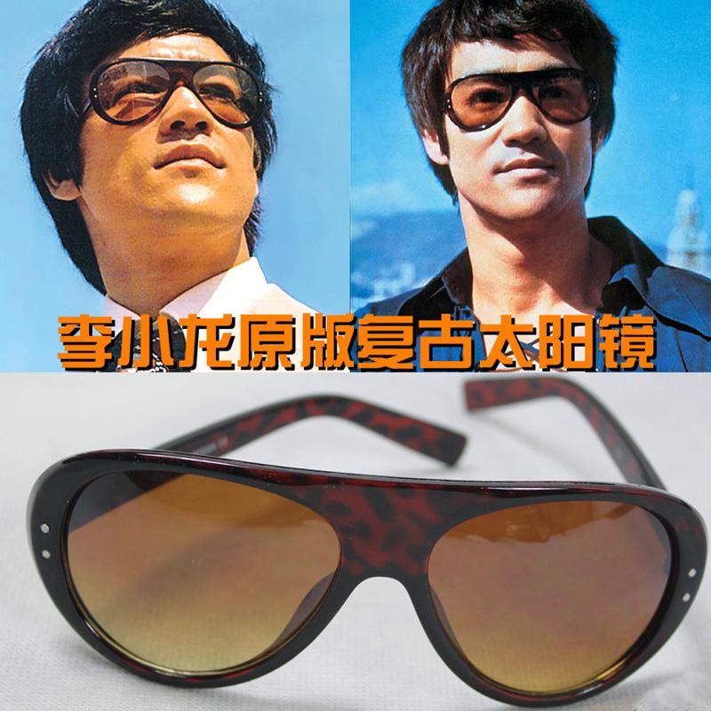 李小龙纪念品复古太阳眼镜谢霆锋王力宏蛤蟆镜户外骑行墨镜