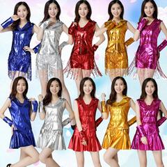 现代舞演出服女成人爵士舞服装DS性感舞蹈裙拉拉队啦啦操套装