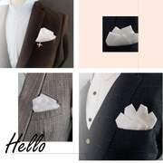 免折英伦白色口袋方巾 男士西装口袋巾直插式 礼服胸巾手帕潮