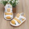 夏季1-3岁皮面男女童婴幼儿学步鞋防滑软牛筋底卡通宝宝凉鞋2