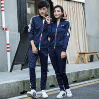 秋季运动套装情侣装健身跑步运动服长袖户外休闲卫衣