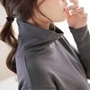 秋冬高领大码中长款T恤纯棉长袖打底衫宽松显瘦纯色女装