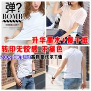 热转印升华短袖莫代尔空白T恤DIY印图定制班服短袖广告衫手绘