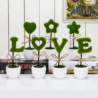 仿真植物盆栽家居摆设摆件书桌客厅创意假花装饰花假花盆栽盆景
