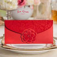 结婚礼庆贺喜事嫁娶商务新年红包利是封 红色 中式立体花朵