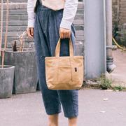 女式手提布包2018上班轻便布料简约小方包手拎袋帆布包包