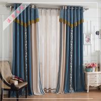 窗帘成品 欧式客厅窗帘雪尼尔加厚遮光卧室窗帘定制高档窗帘布