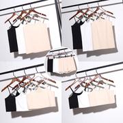 大码吊带背心女内搭性感短款裹胸打底裤胖mm吊带衫安全裤两件套装