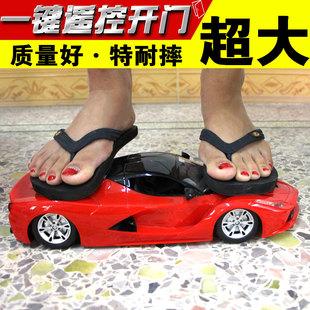 超大可充电遥控车可开门方向盘漂移男孩遥控汽车赛车模型儿童玩具