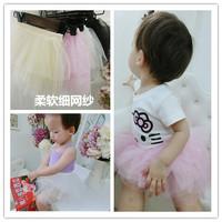 2016夏季女童可爱蓬蓬网纱裙0-1234岁女宝宝婴儿短裙糖果色半身裙