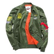 余文乐外套 陈冠希刺绣加肥加大码情侣装男女空军MA1夹克衫棒球服