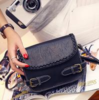 女包新款编制皮带方包单肩斜跨小方包韩版时尚潮流包包女小包包女