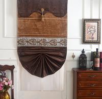 现代简约欧式罗马帘升降帘儿童房卧室书房飘窗扇形遮光窗帘布艺