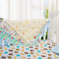 新生儿婴儿纯棉抑菌防水透气竹纤维法兰绒双面隔尿垫 月经垫