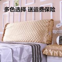 布艺夹棉纯色床头罩床头套防尘罩保护套皮床软包套子1.5m1.8m2.0m