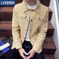 秋冬季男士牛仔夹克欧美风青少年春秋男装薄款大码外套上衣