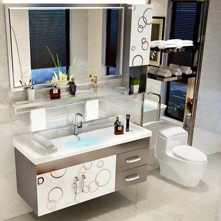 不锈钢浴室柜组合洗手洗脸盆柜洗漱台 现代简约卫生间卫浴柜吊柜