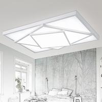 吸顶灯客厅现代简约led正方形大气黑白艺术个性创意书房卧室灯具