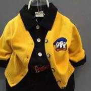 小男童女童装 春秋外套开衫毛衣1-3岁宝宝针织衫婴儿衫上衣服