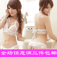 With pink sweetheart Free Shipping cute sequined bow diamond popular Japanese female underwear sexy single passion thong T pants 2 colors