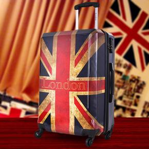 英伦复古国旗男女通用万向轮行李箱米字旗拉杆箱登机旅行箱潮