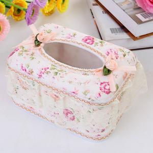 包邮 欧式田园蕾丝 面包式布艺纸巾盒 环保抽纸盒 家居车用纸盒抽