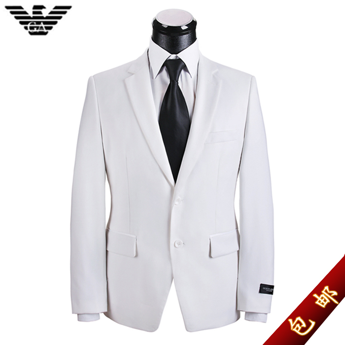 suit men suit married white dress and groom men's business suit korean version of slim suits suit