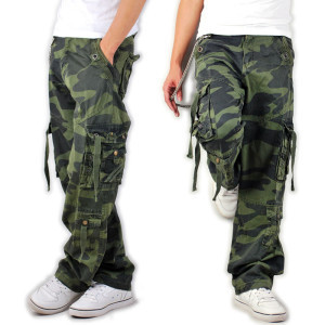 junior high school students of the new men's camouflage pants straight casual pants camouflage bags of pants male camouflage cloth trousers