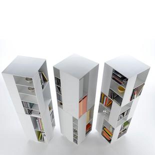 美度空间 BOX 旋转书柜杂志架家具设计报刊架烤漆书架