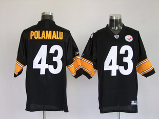 Аксессуар  NFL Pittsburgh Steelers 43 Troy Polamalu Black Jerseys