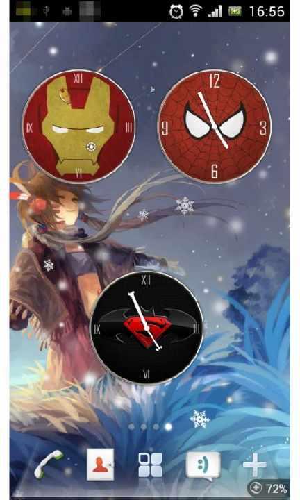 超级英雄桌面时钟