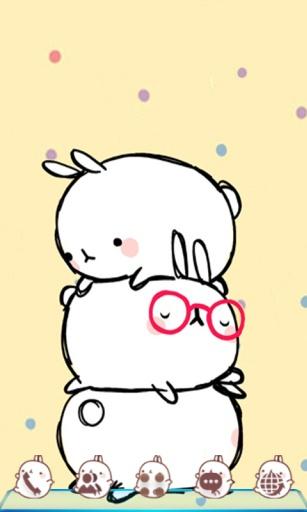 【免費個人化App】宝软桌面-韩国三只兔-APP點子
