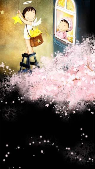 韩国手绘动态壁纸-小亲亲1