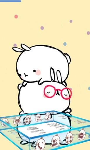 宝软桌面-韩国三只兔