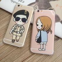 太阳的后裔宋仲基q版iphone6s情侣卡通手机壳6plus