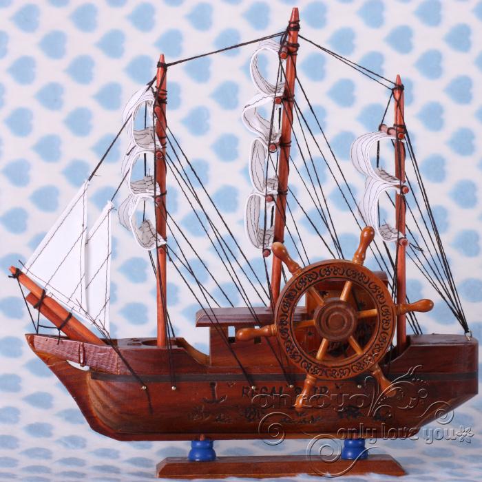 帆船 木制工艺品