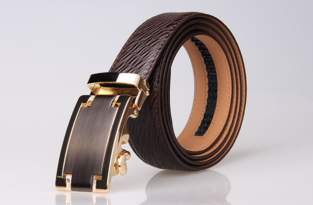 adjustable leather belt ratchet magnatic belt Dress Belt men Auto Lock Buckle