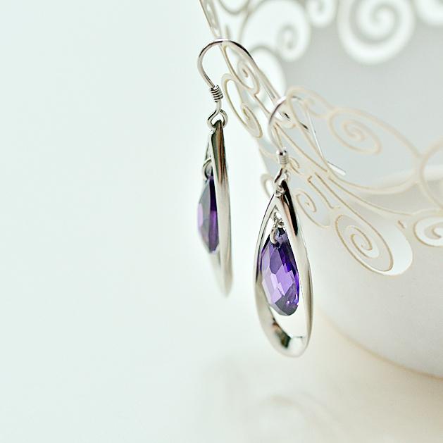 Свисающие серьги Three Fleur jewelry se016 S925