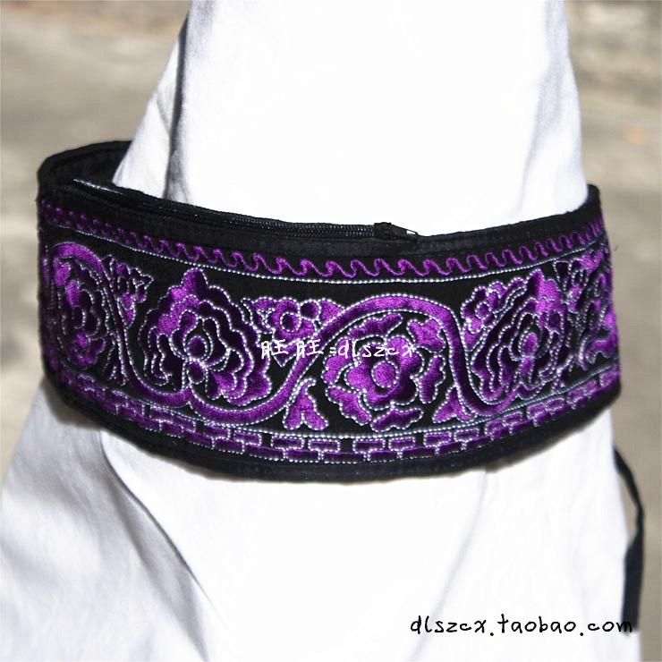 Расписанные изделия Юньнань этнических Вышивка Вышивка специальные предлагает персонализированные ювелирные расширены двойной карманы пояса