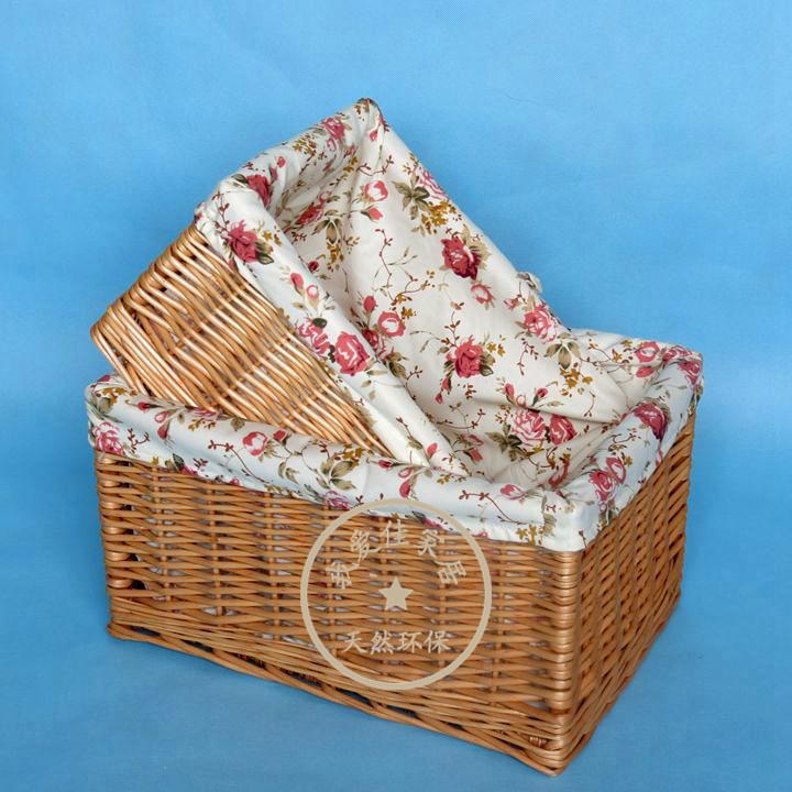 Коробка Плетеные хранения корзины белье хранения коробки одежда игрушки украшения отделки мусора Корзина Корзина настольных IKEA