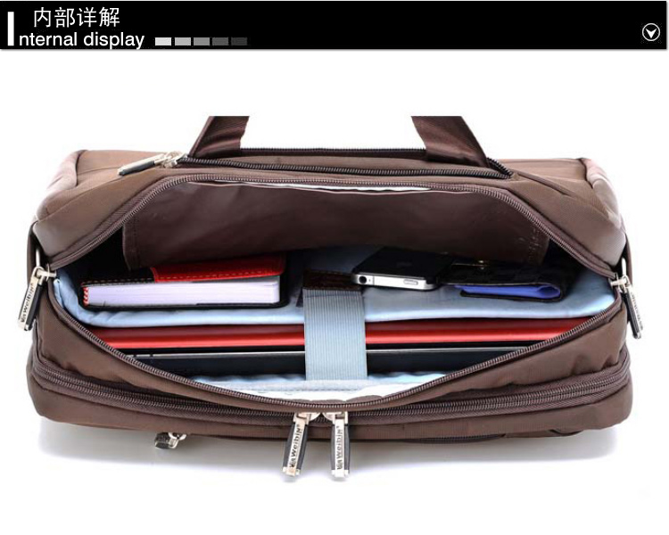 Weibin Wei Bin, male computer bag briefcase single shoulder diagonal Ms. Korean version of Mobile 14 inch 15 inch tide Korean version waterproof