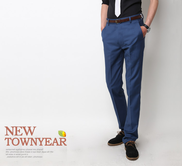 TOWNYEAR England men's business casual Slim Korean version of summer trousers iron fashionable suit pants were skinny legs