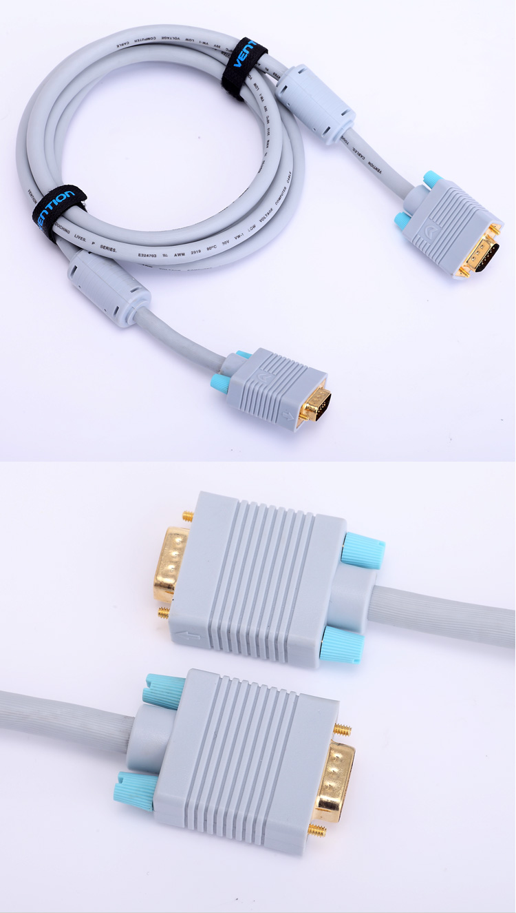 VEnTIOn Wei Xun VGA cable computer connect to a TV HD line double ring 3 9vga cable HD Video Cable