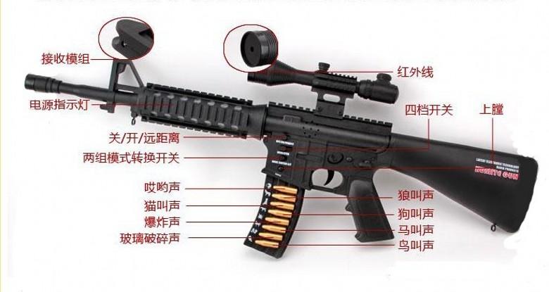 Детский пистолет Инфра красный боевой пистолет CS многопользовательской боевой пистолет-пулемет снайперская винтовка игрушка ребенка Игрушка пистолет где — отец