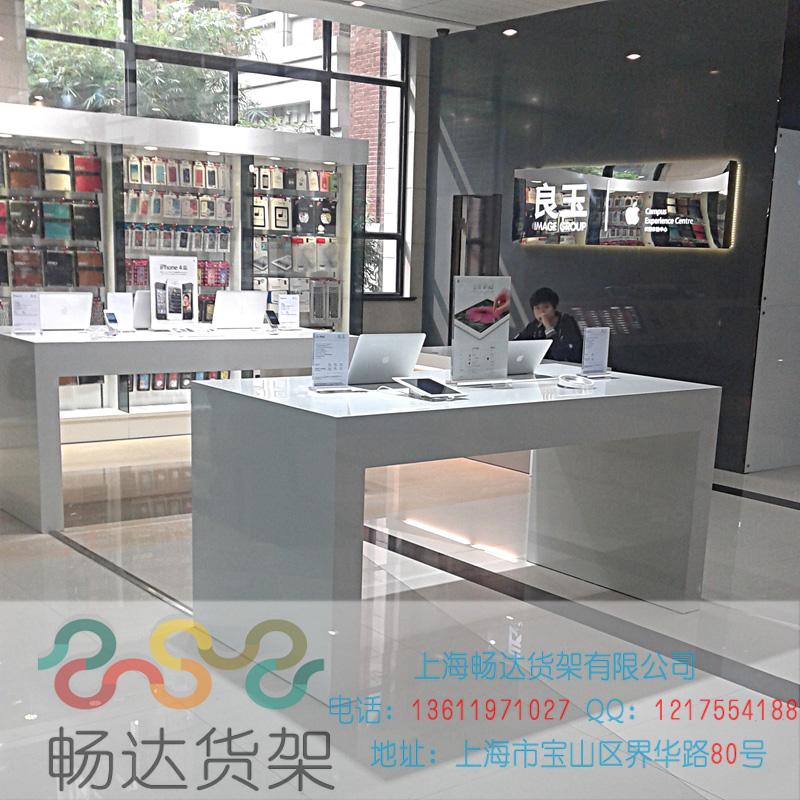 Витрина Последний телекоммуникаций Samsung опыт работы шкафа ноутбука дисплея счетчика машины Китай unicom Apple на стене деревянный дисплей стол