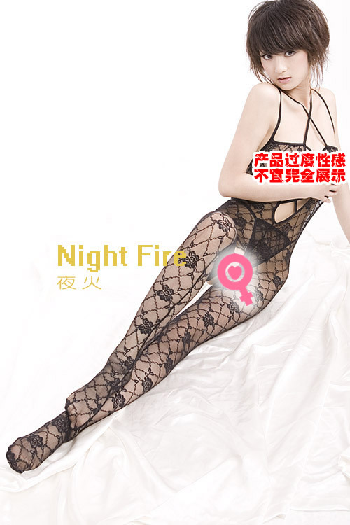 Night fire sexy underwear / lingerie / Perspective V-neck leotard minded desire / Siamese Stockings