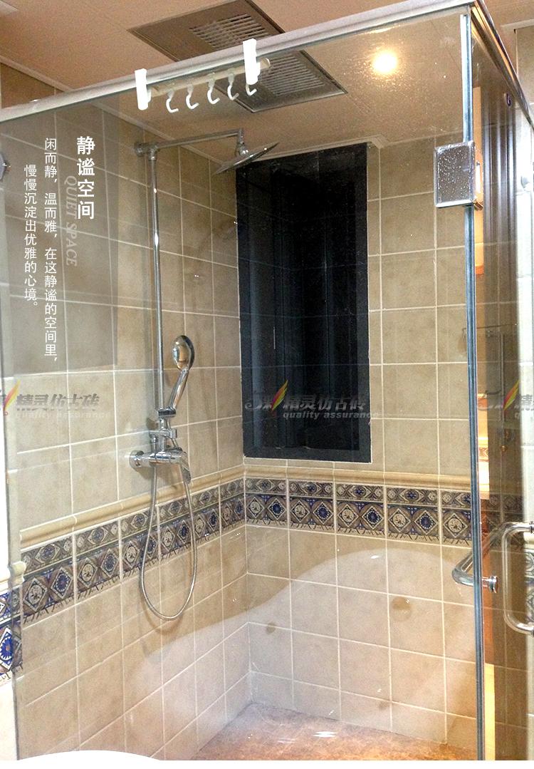 客厅玄关地砖地花线 卫生间仿古瓷砖波导线